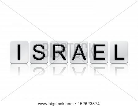 Israel Isolated Tiled Letters Concept And Theme