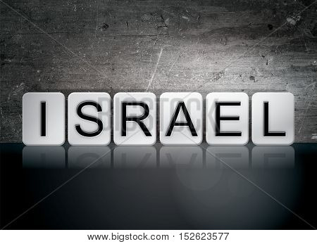 Israel Tiled Letters Concept And Theme