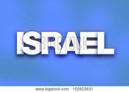 Israel Concept Colorful Word Art