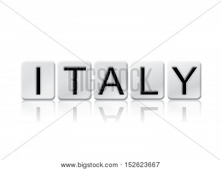 Italy Isolated Tiled Letters Concept And Theme