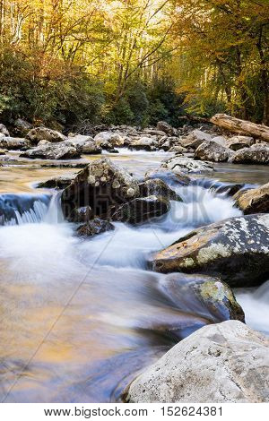 A long exposure of a mountain stream