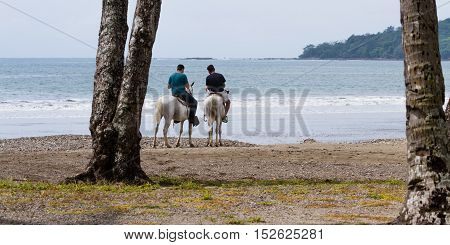 Horse Back Riding On The Beach