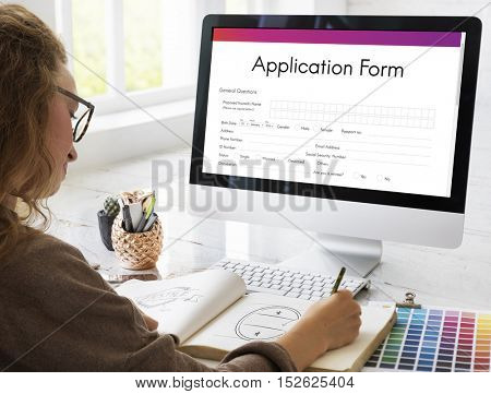 Application Form Document Filling Concept