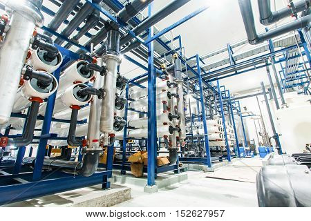 Water filters big The industrial food production.