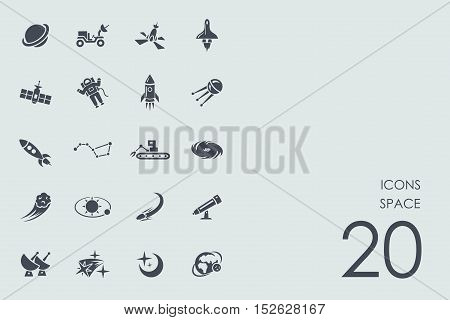 space vector set of modern simple icons