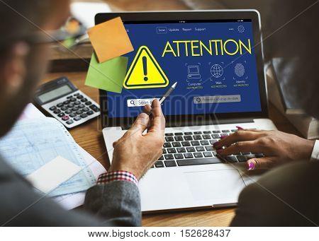 Attention Caution Risk Danger Concept
