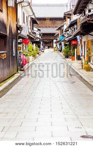 Daitsu-ji Buddhist Temple Road Shops Nagahama V