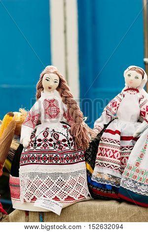 Belarusian Folk Toy. Doll Girl