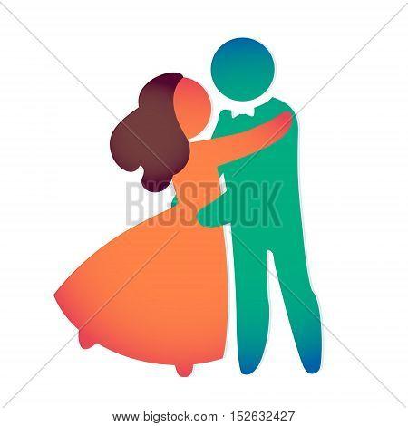 WEDDING ICON wedding invitation card template vector illustration