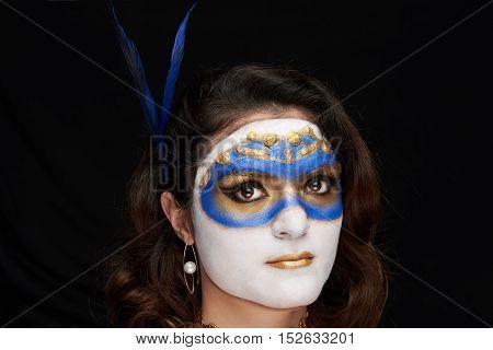 Women Face On Halloween
