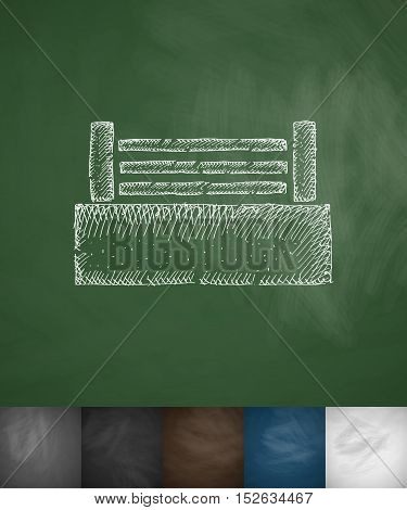 ring icon. Hand drawn vector illustration. Chalkboard Design