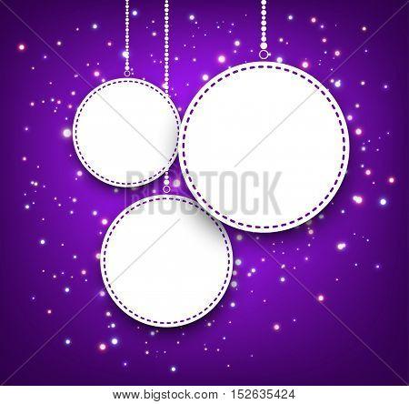 Purple Christmas background. Vector illustration.