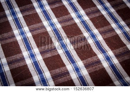 Colorful Checkered Shirt As Background Texture