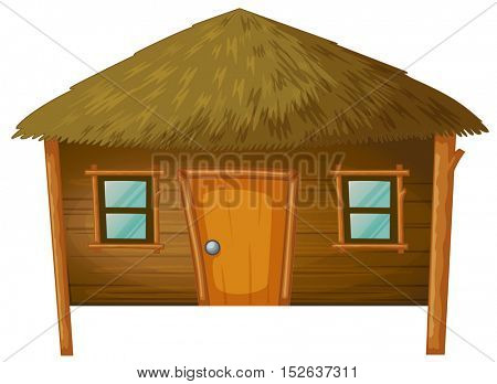 Bungalow made of woods illustration