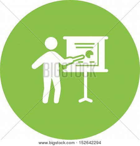 Project, performance, chart icon vector image. Can also be used for people. Suitable for use on web apps, mobile apps and print media.
