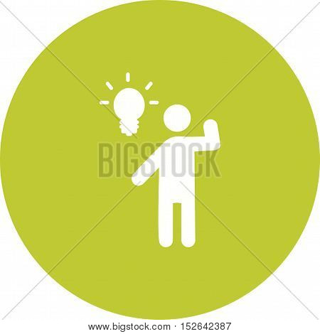 Businessman, idea, happy icon vector image. Can also be used for people. Suitable for use on web apps, mobile apps and print media.