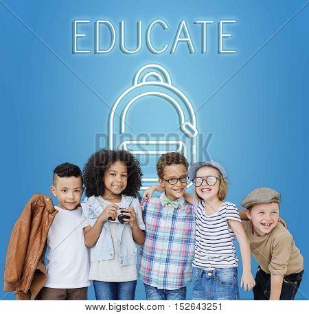 Education School Backpack Tutoring Concept