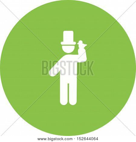 White, pigeon, magician icon vector image. Can also be used for people. Suitable for use on web apps, mobile apps and print media.