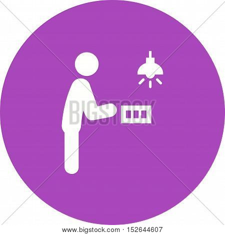 Light, switch, on icon vector image. Can also be used for people. Suitable for use on web apps, mobile apps and print media.