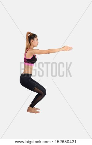Young Woman In Yoga Pose.