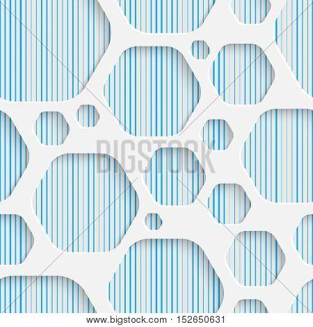Seamless Hexagon Pattern. White and Blue Minimalistic Ornament. Geometric Decorative Wallpaper. Abstract Fashion Background. Print Graphic Design.