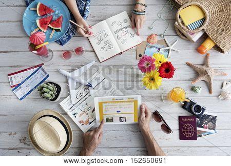 Person Reading Book Travel Concept