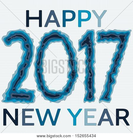 Happy New Year background. Happy holidays card. Creative design for your greetings card flyers posters brochure banners calendar