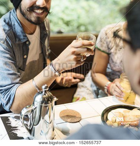Indian Ethnicity Drinking Cafe Break Coffee Tea Concept