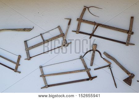 Vintage Tools On The Wall