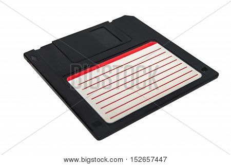 Black floppy Disk isolated on white background