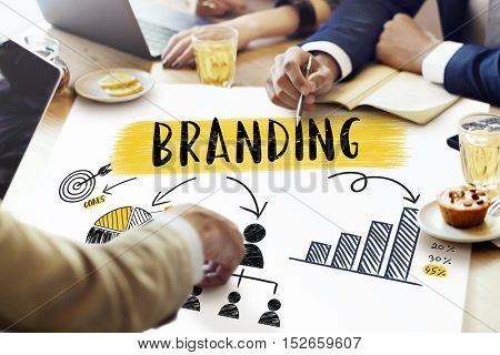 Branding Strategy Planning Chart Graphic Concept