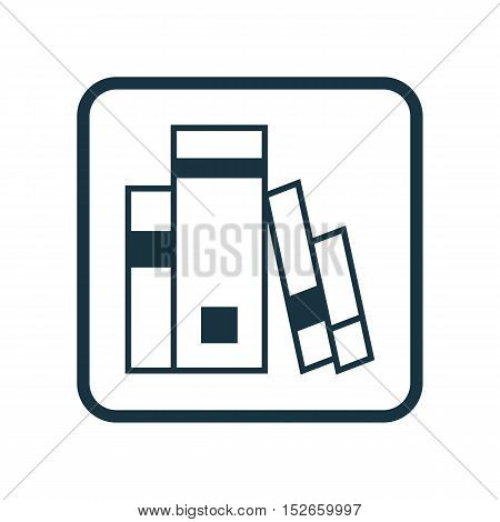 Vector Illustration Of Education Symbol On Books Icon. Premium Quality Isolated Library Icon Element