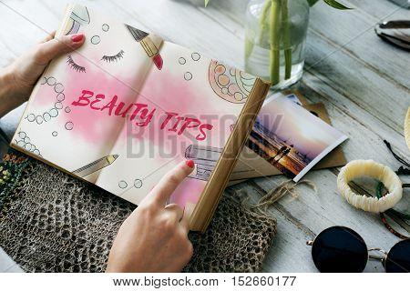 Beauty Tips Makeup Accessories Concept