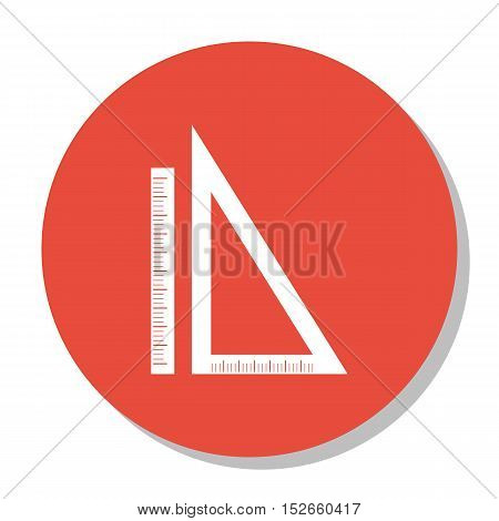 Vector Illustration Of Education Symbol On Rulers Icon. Premium Quality Isolated Measurement Icon El