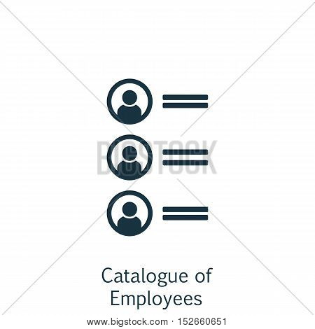 Vector Illustration Of Human Resources Symbol On Catalogue Of Employees Icon. Premium Quality Isolat