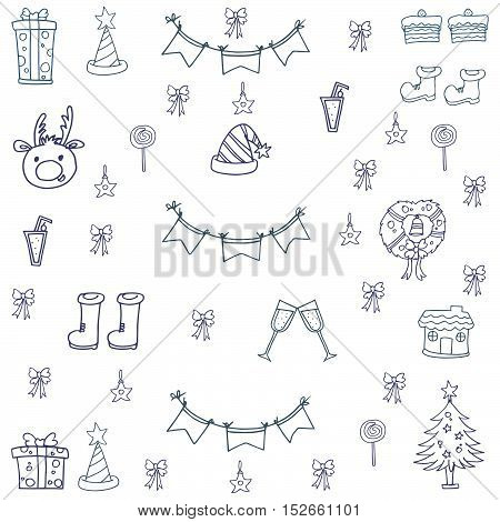 Doodle of christmas hand draw object vector illustration