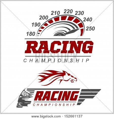 Racing Championship logo set on white background