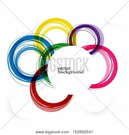 Abstract background with vector design elements eps10