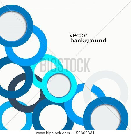 Abstract vector background Blue circles on a white background