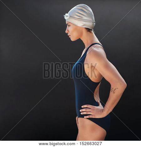 Confident Young Female Swimmer