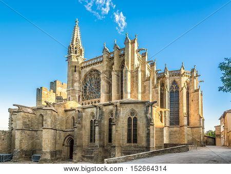 Basilica of Saint Nazaire in Old City of Carcassonne