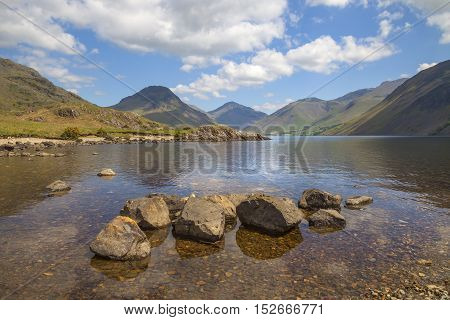 Calm waters at Wast Water, Lake District, Cumbria, England
