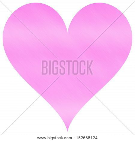 Soft pastel pink simple heart as lovely decoration