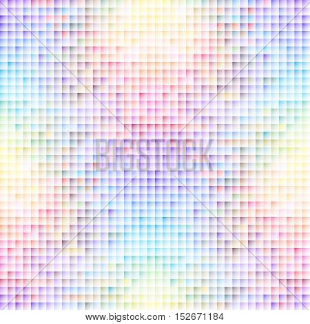 Seamless background pattern. Colorful geometric abstract pattern in pixel art style