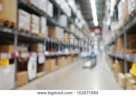 abstract background of market interior shallow depth
