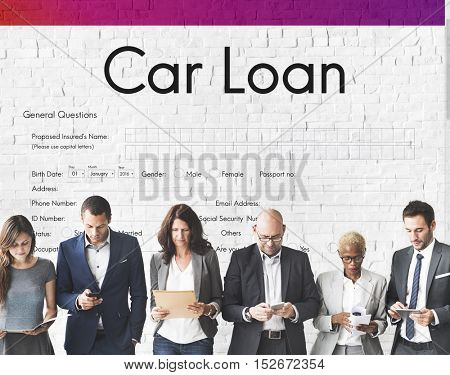 Car Loan Application Form Concept