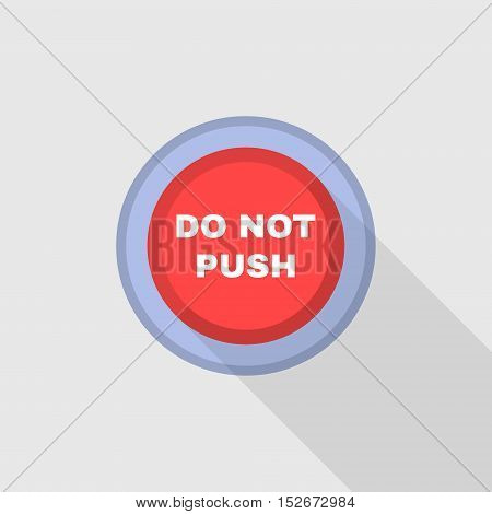Industrial Red Button. Do not press. Flat Design. Vector illustration