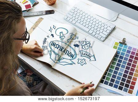 Ideas Outside Box Brainstorm Sketch Concept