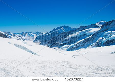 Aerial View Of The Alps Mountains In Switzerland