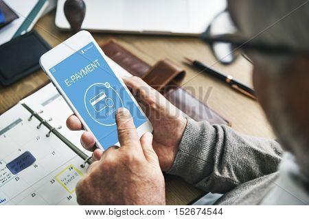 E-Payment Internet Banking Technology Concept